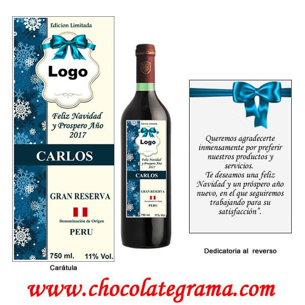 regalo para navidad, vinos personalizados, regalos navideños