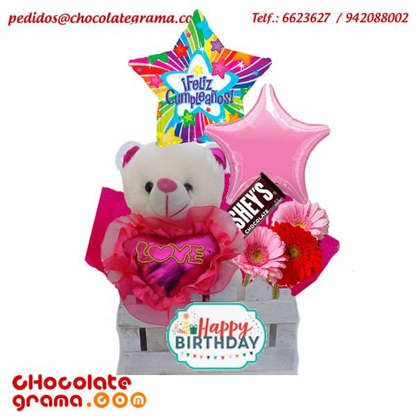 regalos para ella, regalos de cumpleaños, regalos para enamorados, chocolates, flores, peluches