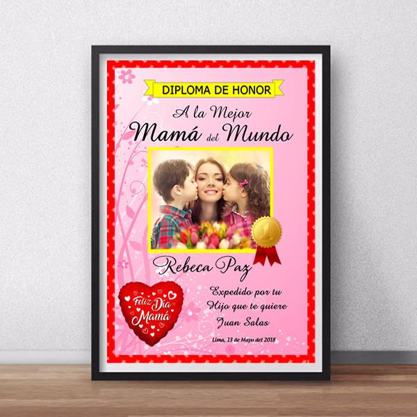 Diplomas para mama, diplomas por el dia de mama, diploma por el dia de la madre, diploma a la mejor mama del mundo