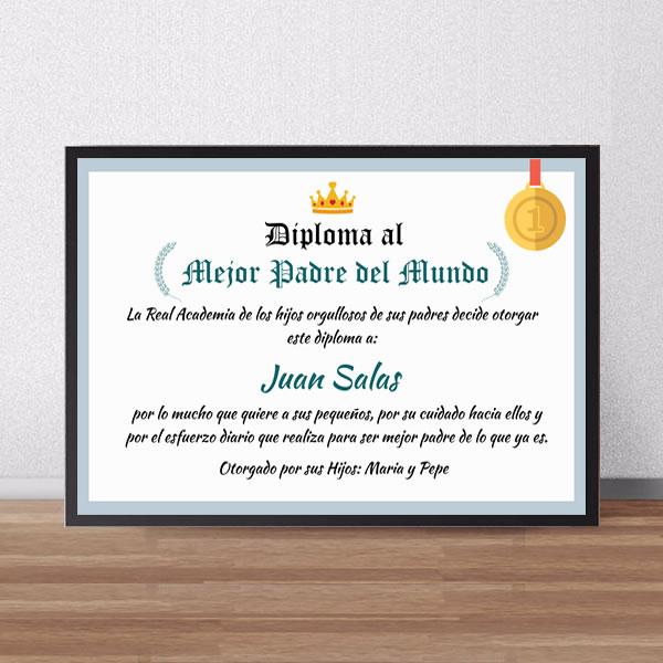 Diplomas para el dia del padre, diplomas para el mejor papa, diplomas para el mejor papa del mundo, lima, peru