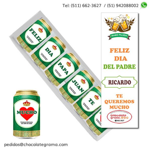 Cerveza personalizada, ramo pilsen personalizado, regalos persaonalizados peru, lima