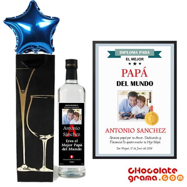 regalos para papá, regalos para el dia del padre, detalles para papá, piscos personalizados, diplomas personalizados