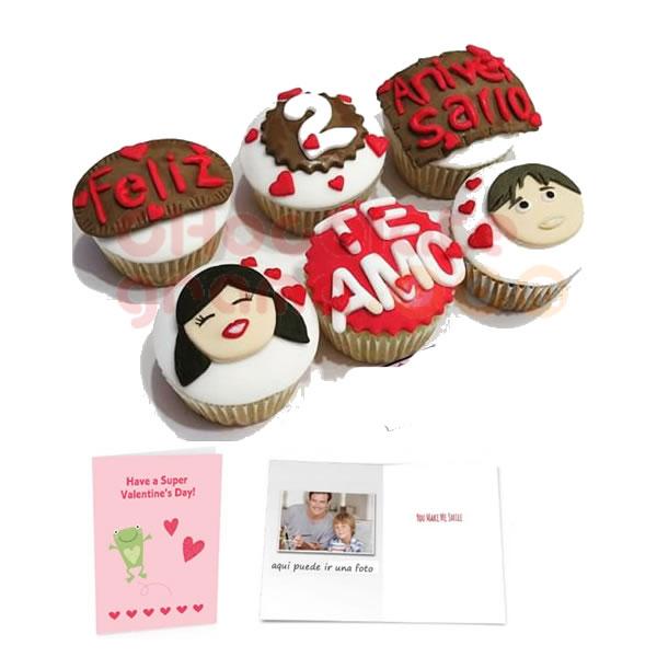 Cupcackes Feliz Aniversario 02 Regalos Para Enamorados Regalos