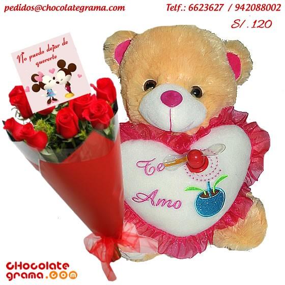 regalos de amor, peluches, rosas, flores