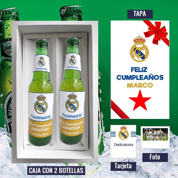 Pack Cerveza Personalizada 17 De Real Madrid Regalos Para