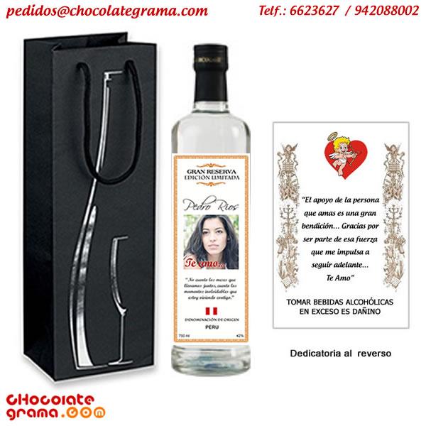 Licores personalizados, vinos personalizados, pisco personalizado, regalos peru, delivery de regalos