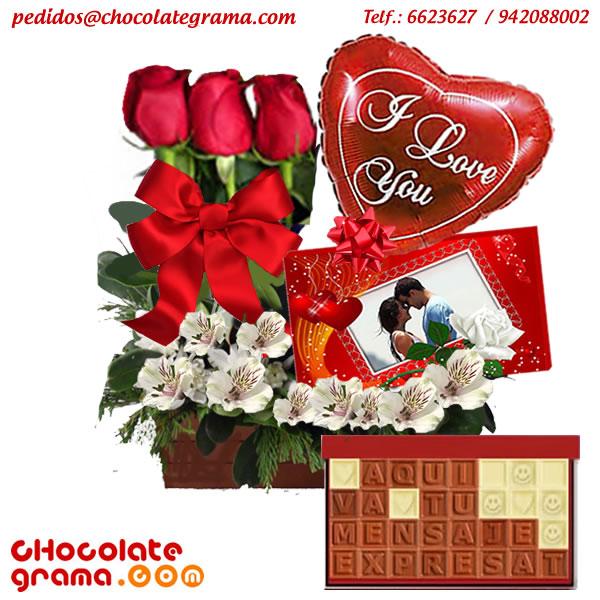arreglos florales para enamorados, chocolates con mensajes, regalos para enamorados