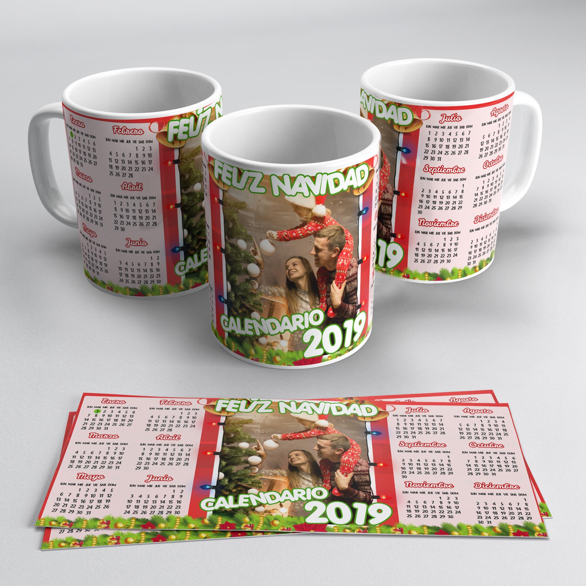 tazas personalizadas, tazas con calendario 2019. tazas calendario peru 2019
