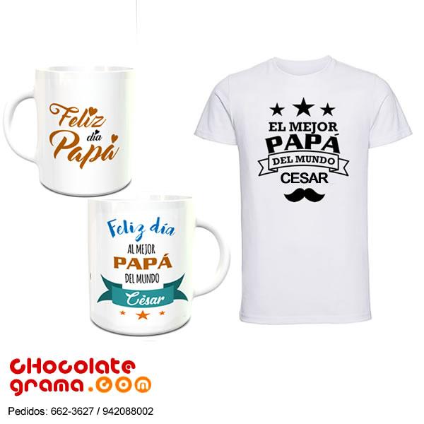 671152eef7 Taza y Polo para Papá Personalizado con nombre | Regalos para el Dia ...