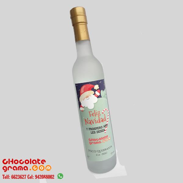 Regalos Corporativos para Navidad, mini pisco para navidad, mini botella de pisco de 500 ml, delivery, lima, peru, mini pisco regalos corporativo, regalo empresarial.
