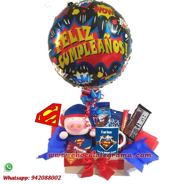 regalos para cumpleaños, delivery de regalos, detalles de superman, regalos de superman