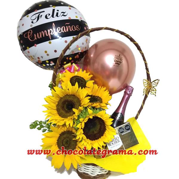 regalo de girasoles con ricaddonna, regalos de cumpleaños